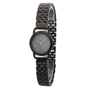 Fjord Women's 'Jette' Black Mother of Pearl Dial Watch