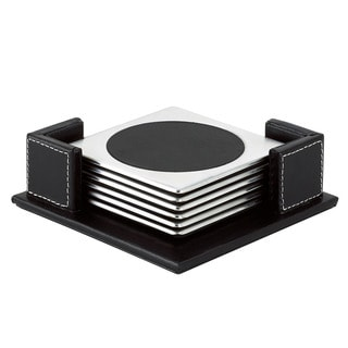 Gorham That's Entertainment Square Coasters with Holder (Set of 6)