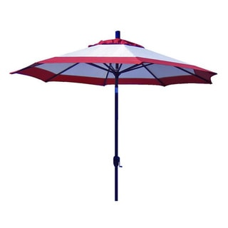Custom Tilting 2-tone Beige/ Rust Patio Umbrella