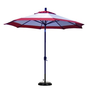 Custom Tilting Beige/ Rust Patio Umbrella