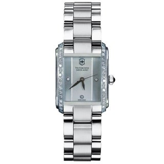 Swiss Army Women's Vivante Rectangle Guilloche Dial Diamond Watch