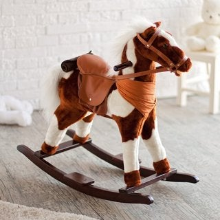 Pinto Rocking Horse with Sound