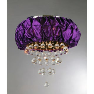 Wine Velvet Crystal Chandelier