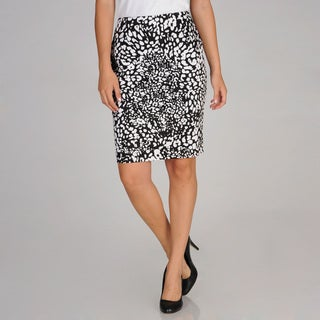 Evan Picone Women's Stretch Cotton Printed Skirt