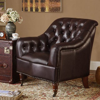 Cologne Top Grain Leather Accent Chair