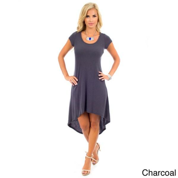 Stanzino Women's Tee High Low Knit Dress