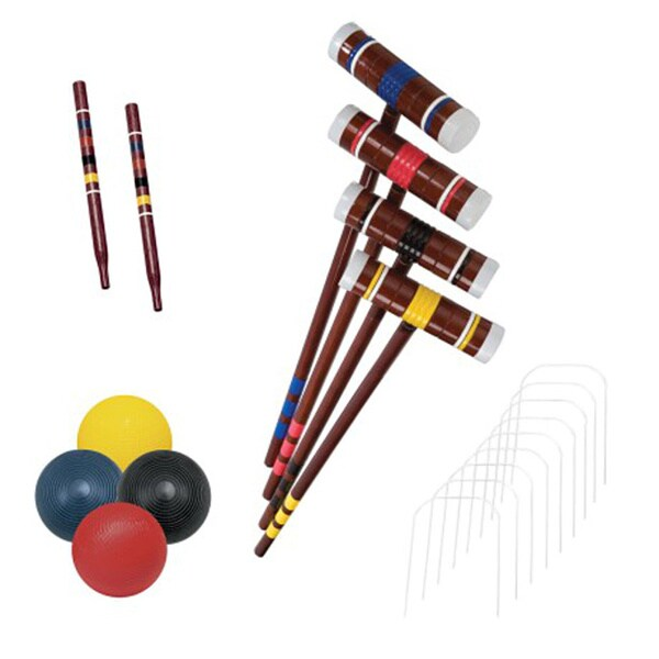 Franklin Sports Recreational 4 Player Croquet Set