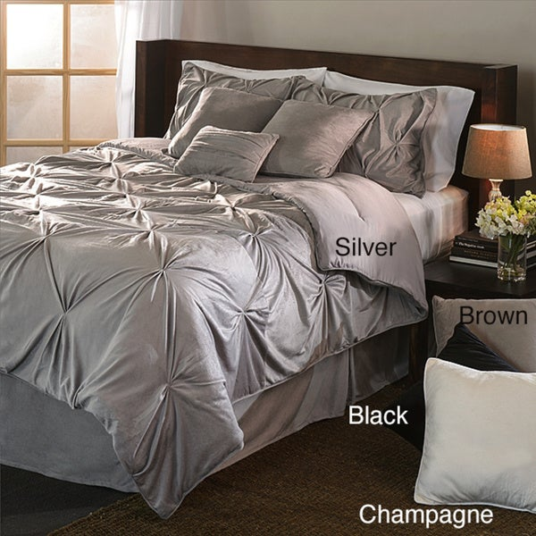 Microplush Pintuck 7-piece Comforter Set