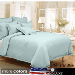 Grand Luxe Gotham Linen 3-piece Duvet Cover Set