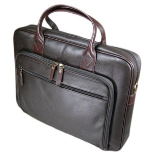 Castello Leather Zip-top Compact Laptop Case