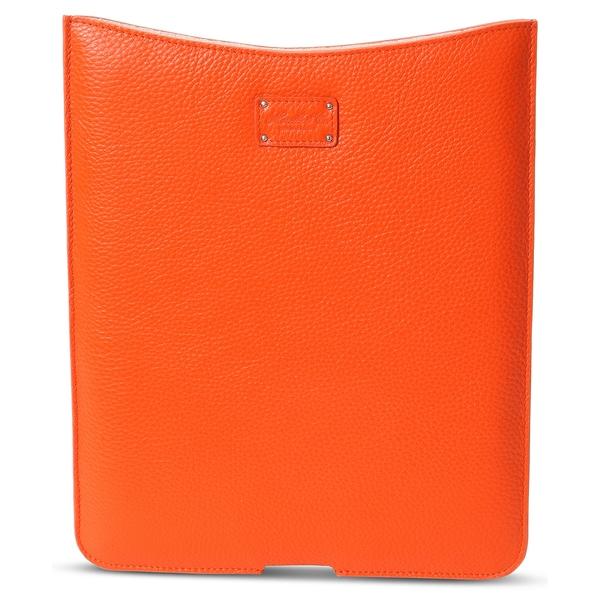 Morelle Tess Genuine Leather Orange iPad Holder