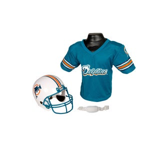 Miami Dolphins NFL Helmet and Jersey Set