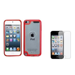 BasAcc Gummy Case/ Anti-glare Screen Protector for Apple� iPod Touch 5