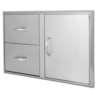 Blaze 32-inch Stainless Steel Access Door and Double Drawers
