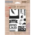 Basic Grey Hipster Clear Stamps By Hero Arts-Cheese 12 Images