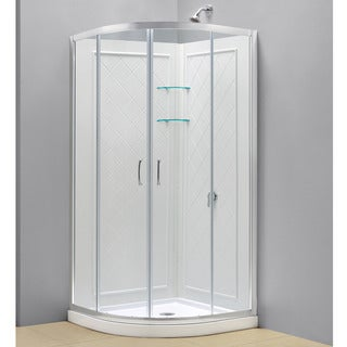 DreamLine Prime Sliding Shower Enclosure, Base and Shower Backwall Kit