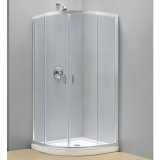 DreamLine Prime Sliding Shower Tempered Glass Enclosure and 36x36-inch Shower Floor