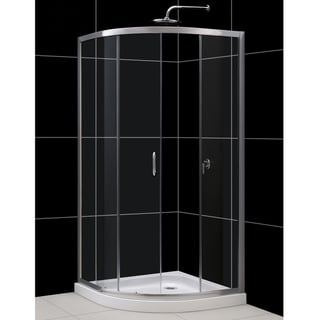 DreamLine Solo Sliding Shower Enclosure and 33x33-inch Shower Base