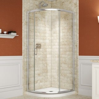 DreamLine Solo Sliding Shower Clear Enclosure and 36x36-inch Shower Floor