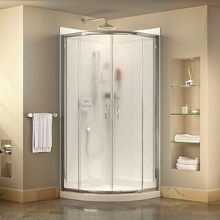 DreamLine Prime Sliding Shower Enclosure, Base and Shower Backwall Kit