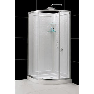 DreamLine Solo Sliding Shower Enclosure, Base and Shower Backwall Kit