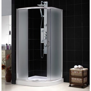 DreamLine Solo Sliding Shower Enclosure and 38x38-inch Shower Tray