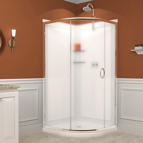 DreamLine Solo Sliding Shower Enclosure, Base and Shower Backwall Kit
