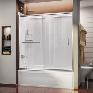 DreamLine Infinity-Z 56-60-inch Sliding Tub Door and Backwall Kit