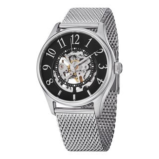 Stuhrling Original Men's Solaris Elite Automatic Skeleton Mesh Band Watch