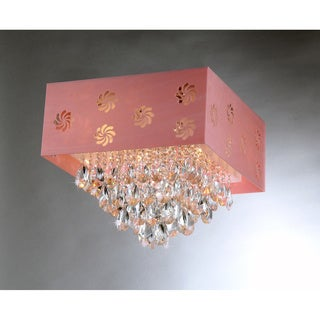 Pink Square Crystal Chandelier