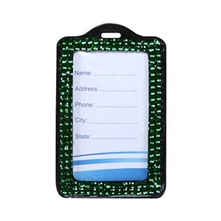BasAcc Green Vertical Business Card Holder
