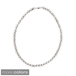 Mondevio Rhodium-plated 8mm Beaded Necklace