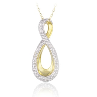 DB Designs Two-tone Sterling Silver Diamond Accent Infinity Necklace
