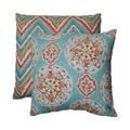 Pillow Perfect Mirage/ Chevron 18-inch Throw Pillows (Set of 2)