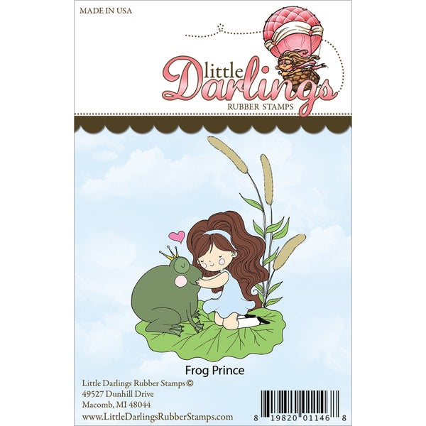 Little Darlings Unmounted Rubber Stamp-Frog Prince