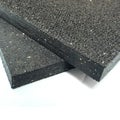 Rubber-Cal's Shark Tooth Heavy-Duty Mats - 3/4-inch Thick Rubber Mats - Available in 3 Sizes - Black - Made in the USA