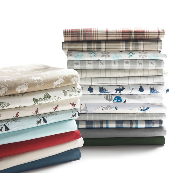 Eddie Bauer 100-percent Cotton Flannel Sheet Set