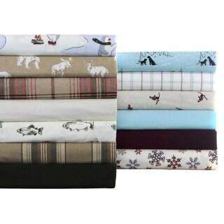 Eddie Bauer 100-percent Cotton Flannel Sheet Set