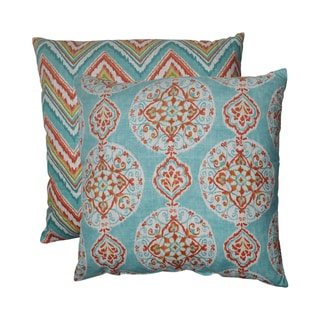 Pillow Perfect Mirage/ Chevron 23-inch Decorative Pillows (Set of 2)