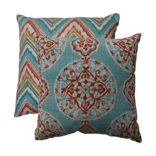 Pillow Perfect Mirage/ Chevron 16.5-inch Throw Pillows (Set of 2)