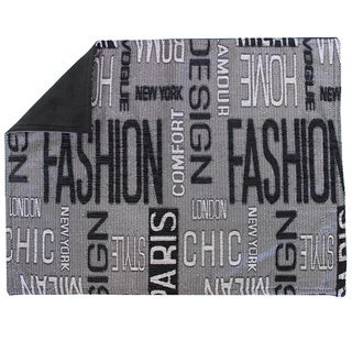Sherry Kline 'Fashion' Black Text Place Mats (Set of 4)