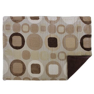 Sherry Kline 'Metro' Taupe Geometric Place Mats (Set of 4)