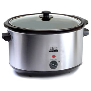Elite Cuisine Stainless Steel 8.5-quart Slow Cooker