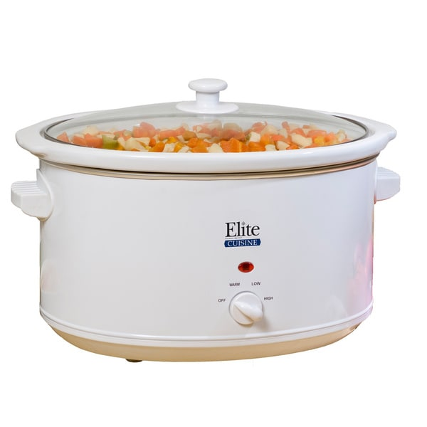 Elite Cuisine White 8.5-quart Slow Cooker
