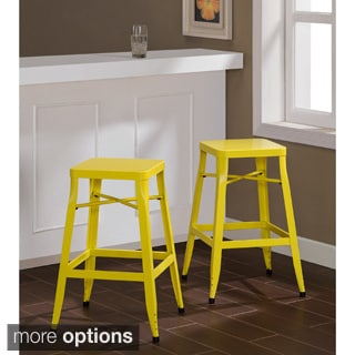 Depot Tabouret Lemon Yellow Industrial Stools (Set of 2)