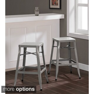 Depot Tabouret Silver Stool (Set of 2)