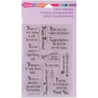 """Stampendous Perfectly Clear Stamps 4""""X6"""" Sheet-Soaring Elements"""
