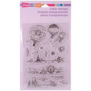 Stampendous Perfectly Clear Stamps 4X6in Sheet-Hot Air Scapes