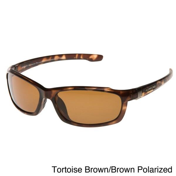 Pepper's Men's 'White Sands' Speedline Polarized Sunglasses