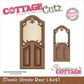 "CottageCutz Die 4""X4""-Classic Ornate Door Made Easy"